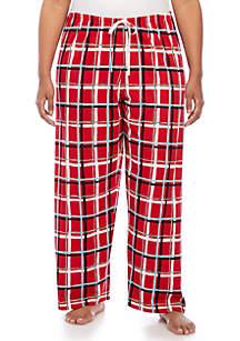 Plus Size Merry Plaid Pajama Pants
