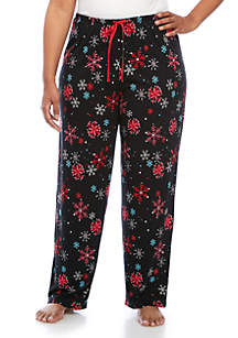 Plus Size Snow Shower Pajama Pants