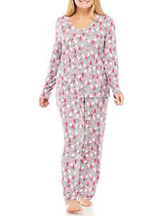 Plus Size 2-Piece Copy Cat Pajama Set