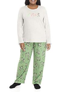 Plus Size Long Sleeve Joy Pajama Set