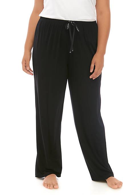 HUE® Plus Size Sleep Well Long Pants