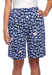 Plus Size Tick Tack Houses Bermuda Shorts