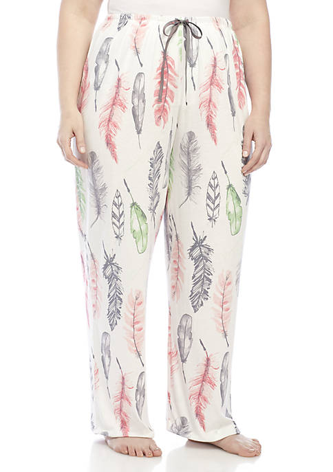 HUE® Plus Size Feather Letter Pant