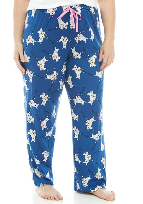 HUE® Plus Size Polar Bear Pajama Pants