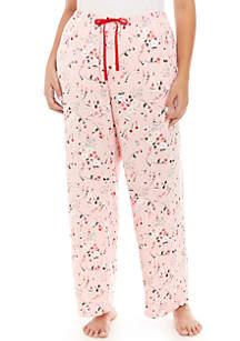 Plus Size Rose Spritz Pajama Pants