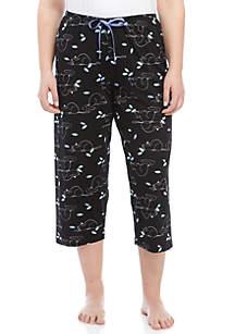 HUE® Plus Size Cat Nap Capris Pants