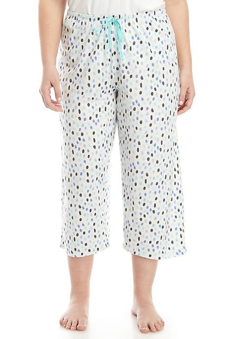 Plus Size Teardrop Pajama Capris