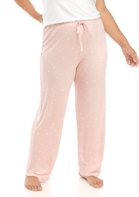 HUE® Plus Size Sleep Well Long Pajama Pants