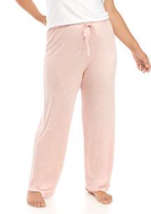HUE® Plus Size Sleep Well Long Pajama Pants