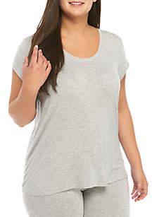 HUE® Plus Size Sleepwell Short Sleeve T-Shirt