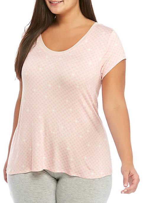 HUE® Plus Size Sleepwell Short Sleeve Sleep T-Shirt