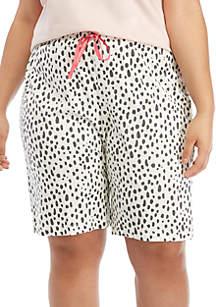 HUE® Plus Size Animal Pop Bermuda Pajama Shorts