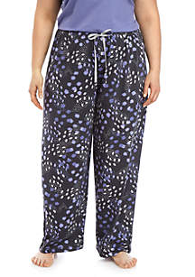 HUE® Plus Size Skin Dot Pajama Pants