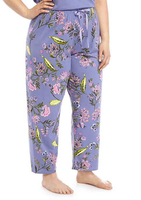 HUE® Plus Size Floral Pajama Pants