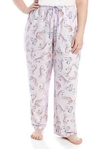 HUE® Plus Size Leopard World Pajama Pants