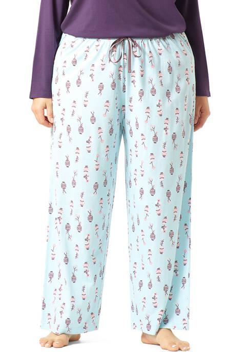 Plus Size Flower Vase Classic PJ Pants