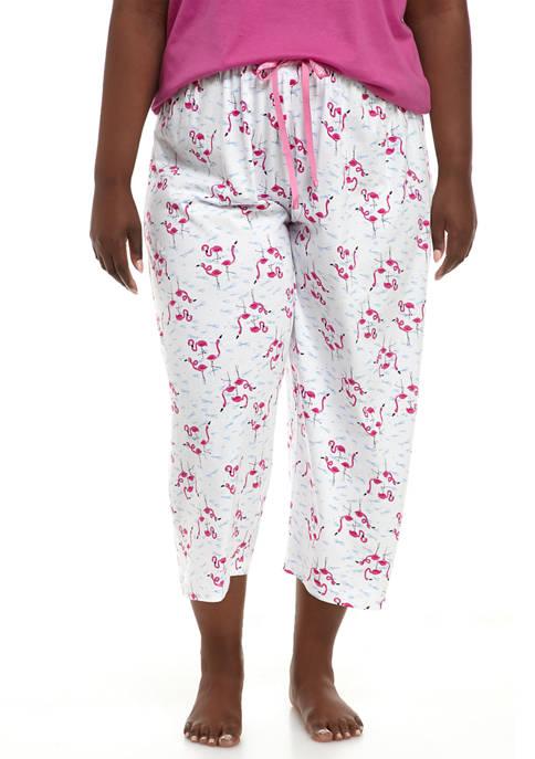 HUE® Plus Size Flamingo Capri Pajama Pants