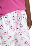 Plus Size Flamingo Capri Pajama Pants