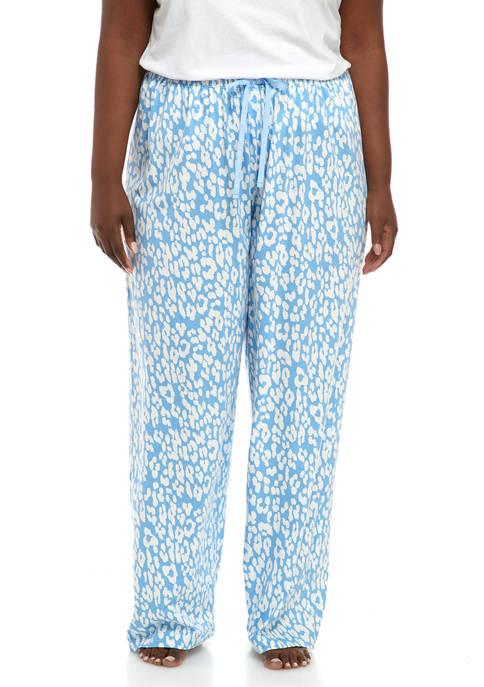 HUE® Plus Size Animal Print Pajama Pants