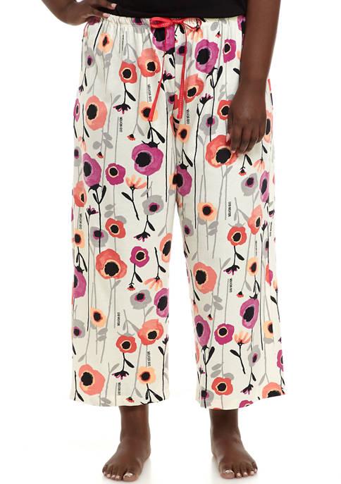 HUE® Plus Size Magical Floral Capri Pajama Pants
