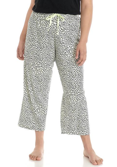 HUE® Plus Size Sweet Leopard Print Pajama Pants