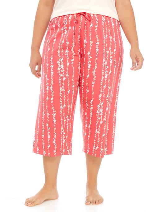 HUE® Plus Size Paradise Vines Capri Pajama Pants