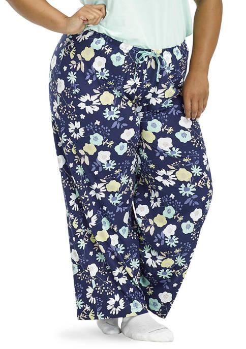HUE® Plus Size Destiny Floral Pajama Pants