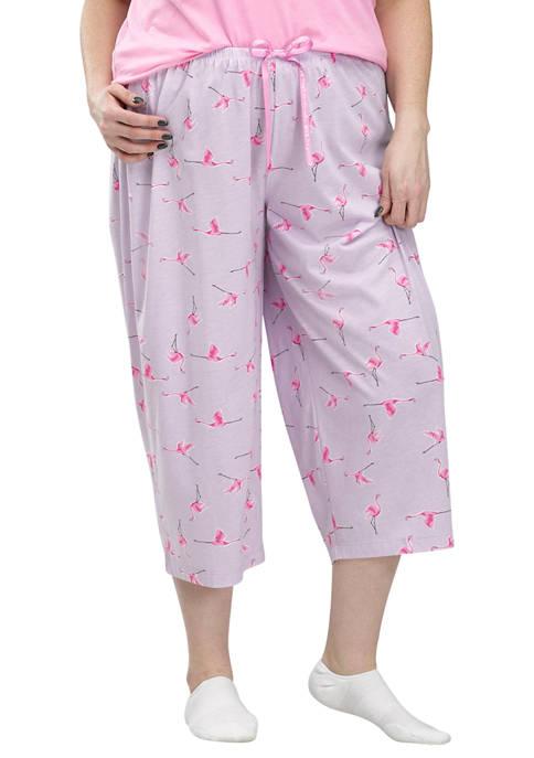 HUE® Flamingo Flight Classic Capri Pajama Bottoms