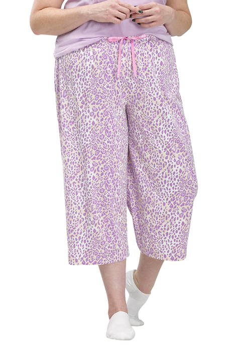 Orchid Cheetah Classic Capri Pajama Bottoms