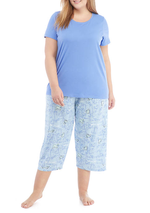 HUE® Plus Size Play Nice Pajama Set