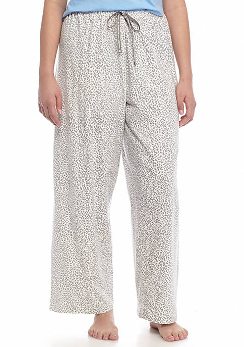 HUE® Plus Size Rita Cheetah Print Pants