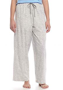 HUE® Plus Size Rita Cheetah Print Pants