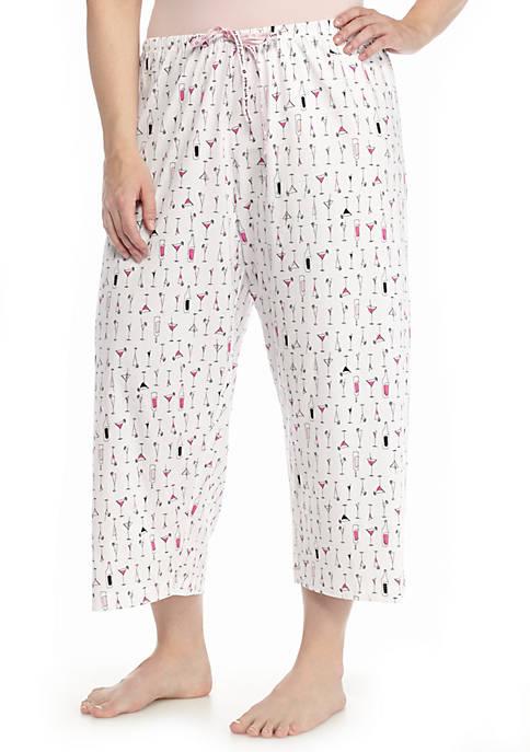 HUE® Plus Size Printed Capri Pant