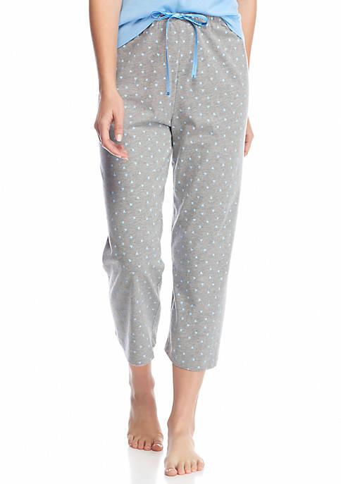 HUE® Plus Size Mini Scribble Capri Pajama Pants