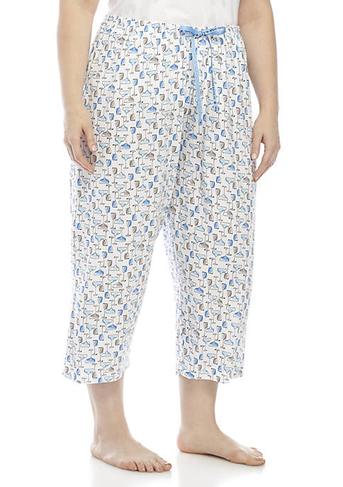 HUE® Icy Margarita Capri Pants