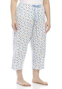 HUE® Icy Margarita Capri Pants