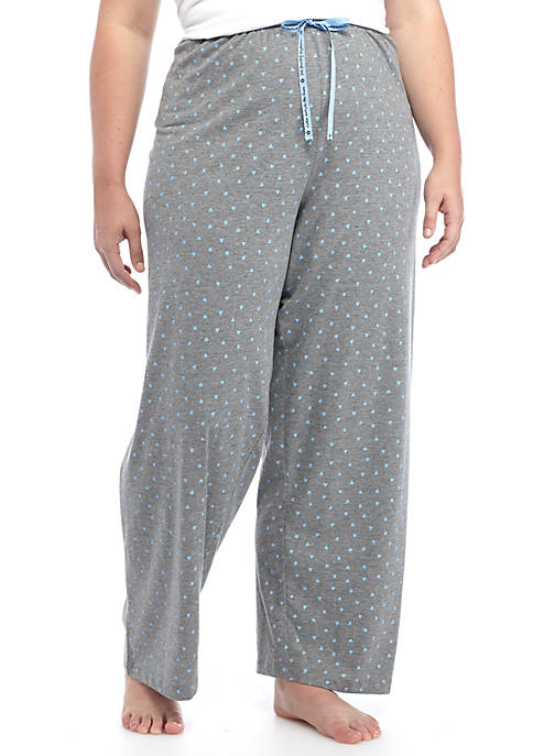 HUE® Plus Size Heart Print Pants