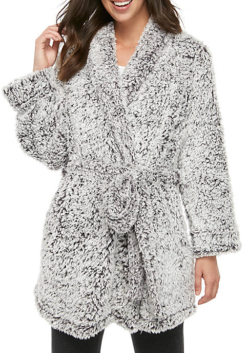 Frosted Sherpa Robe