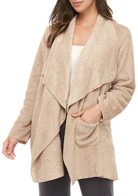 New Directions® Marled Fleece Cascade Wrap