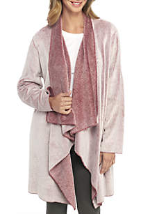 Frosted Fleece Wrap Robe