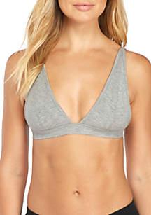 Evie Rib Knit Triangle Bralette - 99001