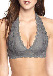 Galloon Lace Halter Bra - F763O915