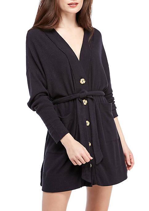 Rib Knit Robe
