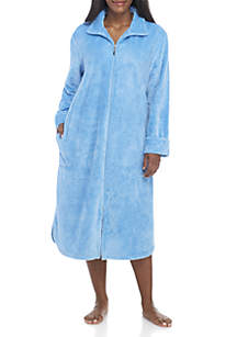 Plus Size Zip-Front Beehive Robe