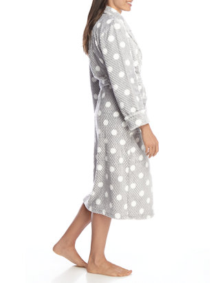 Dotted Print Folded Robe