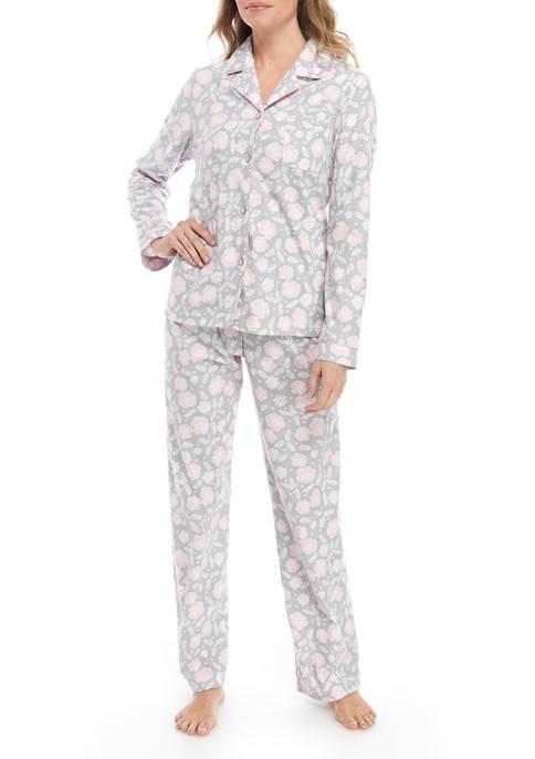 Kim Rogers® Womens 3 Piece Floral Micro Pajama