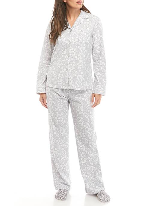 Kim Rogers® Womens 3 Piece Pajama Set With