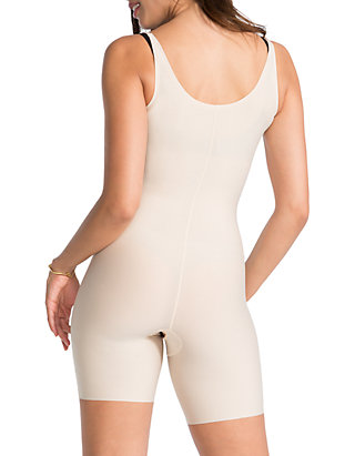 2939c1705 SPANX® Plus Size Thinstincts Open-Bust Mid-Thigh Bodysuit - 10021P ...