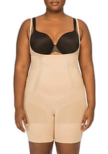 Plus Size Oncore Open-Bust Mid-Thigh Bodysuit