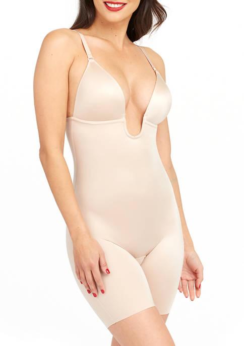 Suit Your Fancy Plunge Low-Back Mid-Thigh Bodysuit